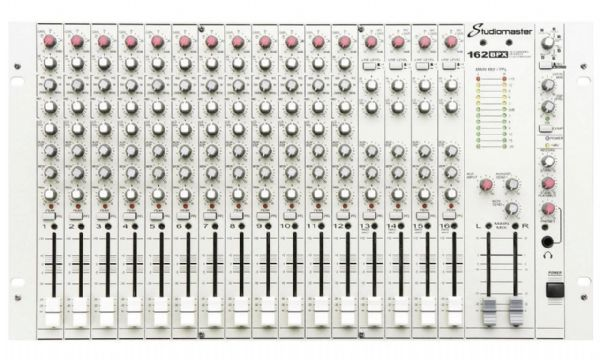 Studiomaster 162BPX Compact Rack Mixer, 16 Channels, 28 Inputs - Inc FX - 162BPX